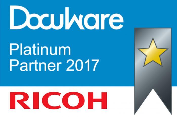 RICOH Europe zostało wyróżnione Platynowym Partnerem DocuWare.