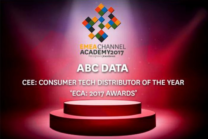"""ABC Data podczas konferencji DISTREE EMEA została nagrodzona prestiżowym tytułem """"Dystrybutora Roku Europy Środkowo-Wschodniej""""."""