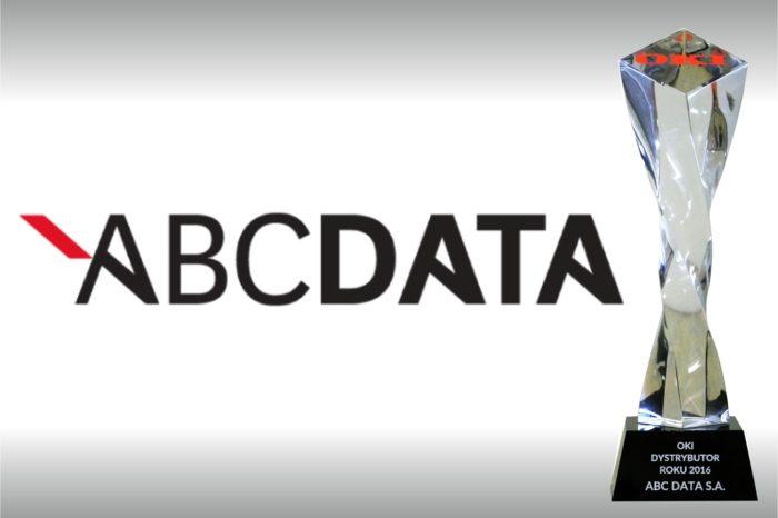 """ABC Data nagrodzona tytułem """"Dystrybutora Roku 2016 rozwiązań OKI w Polsce"""" podczas spotkanie SHINRAI OKI 2017."""