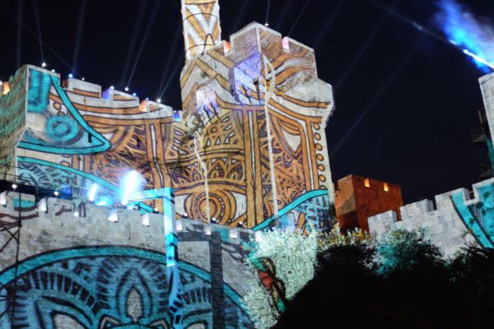 Epson zorganizował wielki pokaz świateł na murach Starego Miasta w Jerozolimie, wyjątkowy spektakl na powierzchni 4500 m².