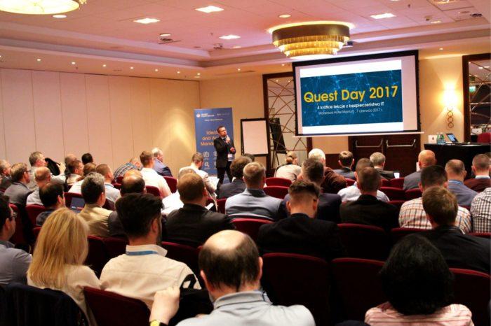 """Konferencja Quest Day 2017 pod hasłem """"4 krótkie lekcje z bezpieczeństwa IT"""" zorganizowana przez Quest Dystrybucja już za nami."""