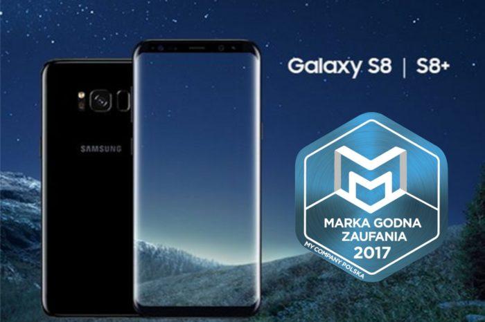 """Samsung jako jedyny przedstawiciel kategorii """"Producenci telefonów komórkowych i smartfonów"""" z tytułem Marka Godna Zaufania."""