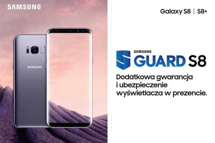 Smartfony Galaxy S8 i S8+ w promocji z dodatkową gwarancją i ubezpieczeniem wyświetlacza w ramach pakietu Guard S8.