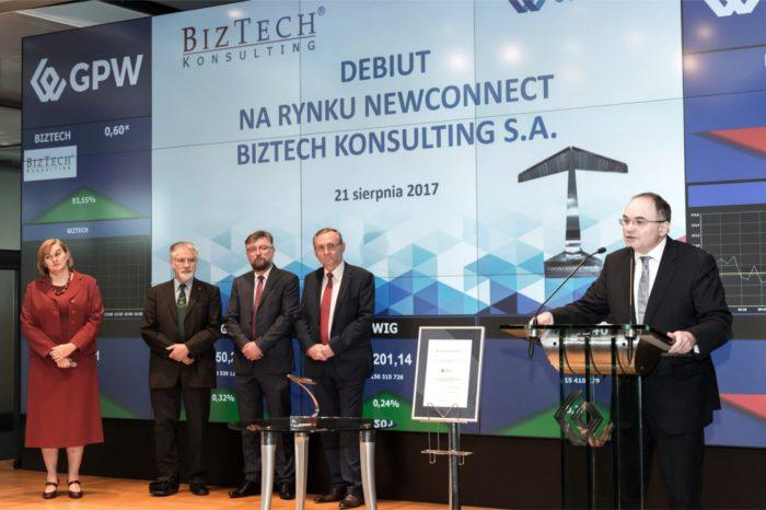 Na parkiecie rynku NewConnect zadebiutowała spółka BizTech Konsulting S.A. jako 10 spółka w sektorze Systemy Informatyczne.