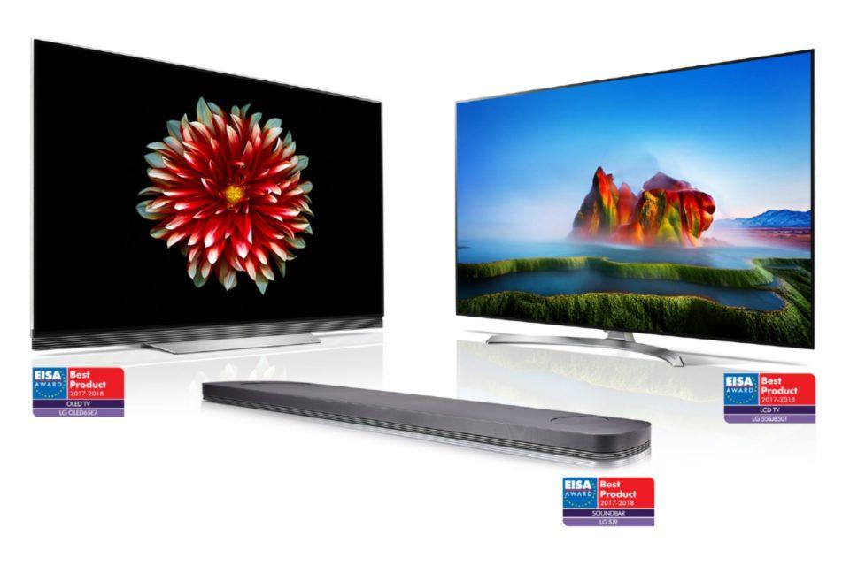 """LG z prestiżowymi nagrodami EISA 2017-2018 – Nagrody za """"Najlepszy telewizor OLED"""", za """"Najlepszy telewizor LCD"""" a to nie wszystko…"""