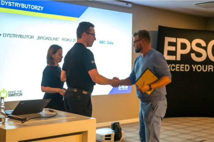 ABC Data S.A. - Dystrybutorem Roku 2016 produktów marki EPSON,, notując największy wzrost procentowy sprzedaży rok do roku.