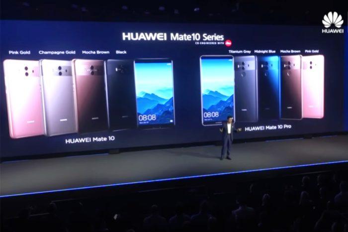Huawei zaprezentował najnowsze urządzenia z serii Mate 10 i Mate 10 Pro - Pierwsza mobilna platforma wykorzystującą sztuczną inteligencję.
