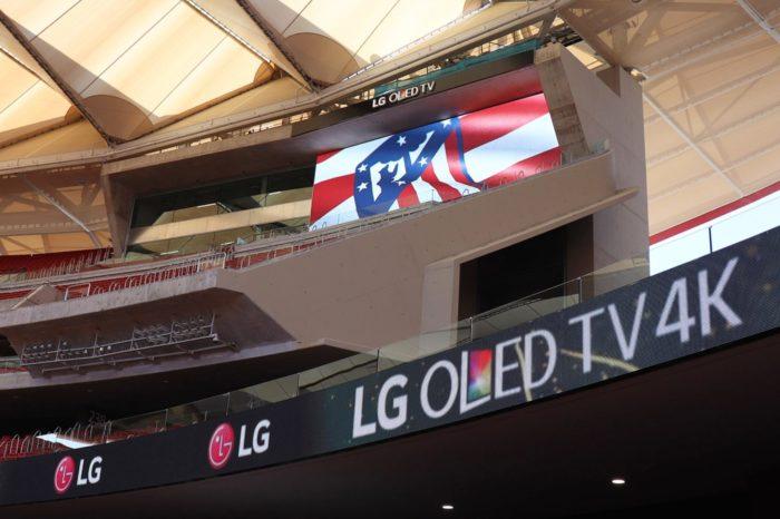 LG zadbało o komunikację, wdrażając najnowocześniejsze ekrany na zupełnie nowym Estadio Wanda Metropolitano, klubu piłkarskiego Atlético de Madrid.