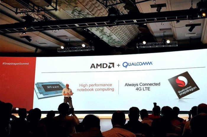 AMD ogłasza współpracę z Qualcomm Technologies - Procesory AMD Ryzen™ Mobile i modemy LTE Qualcomm® Snapdragon™ zapewnią łączność notebookom konsumenckim i biznesowym.