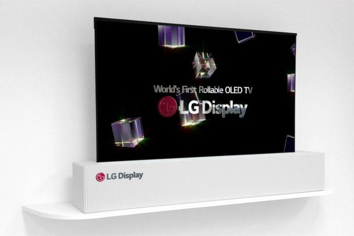 LG Display podczas targów CES 2018 w Las Vegas, zaprezentowało telewizor przyszłości - 65-calowy panel OLED UHD zwijany w rulon!