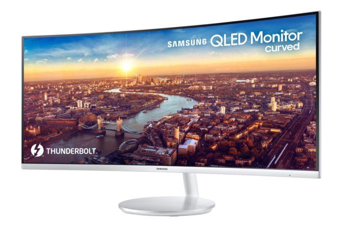 Samsung podczas targów CES 2018 w Las Vegas, zaprezentuje pierwszy zakrzywiony monitor QLED z portem Thunderbolt 3.