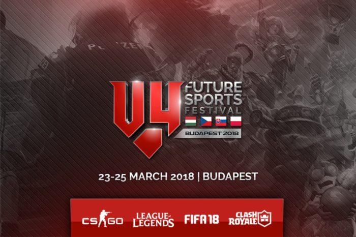 Milion euro w puli nagród pierwszego turnieju esportowego dla państw Grupy Wyszechradzkiej - V4 Future Sports Festival!