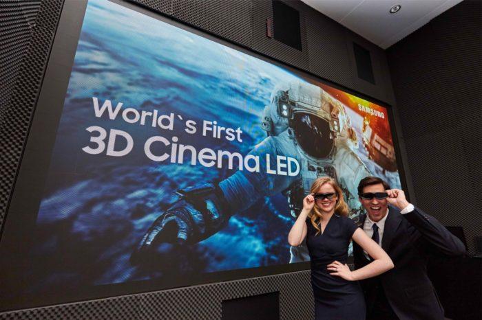 Samsung podczas targów ISE 2018 w Amsterdamie, zaprezentował pierwszy na świecie ekran 3D Cinema LED.