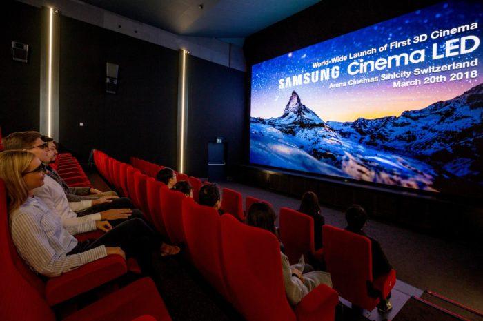 Samsung Electronics zainstalował w kinie Arena Cinemas Sihlcity w Zurychu, pierwszy w Europie ekran kinowy Samsung Cinema LED 3D.