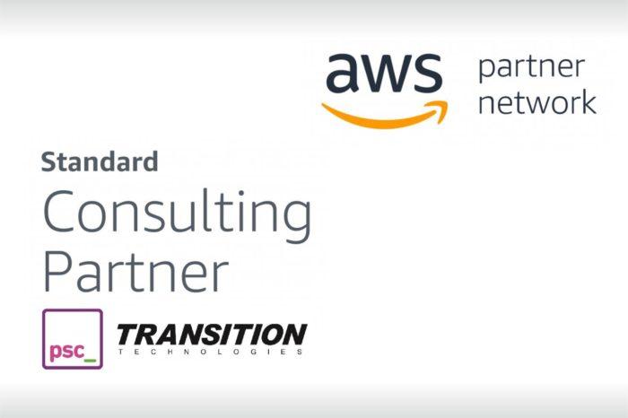 Transition Technologies PSC z tytułem Standard Consulting Partner Amazon Web Services (AWS) w zakresie tworzenia i zarządzania aplikacjami w chmurze publicznej AWS.