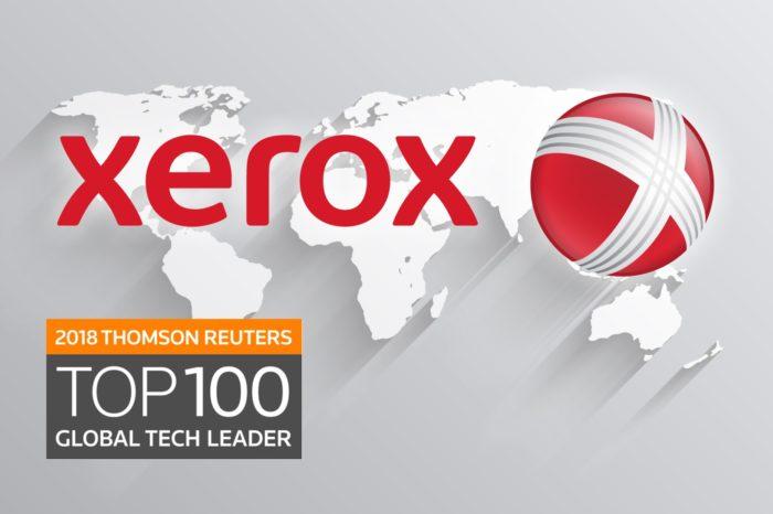 Xerox z tytułem Top 100 Global Technology Leader - Thomson Reuters docenił firmę za wkład w dziedzinie innowacji, zasobów ludzkich, społecznej odpowiedzialności i wpływu na środowisko.