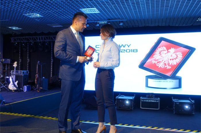 ZIPSEE Cyfrowa Polska uhonorowała Jadwigę Emilewicz - Minister przedsiębiorczości i technologii, za wkład w rozwój cyfrowej gospodarki statuetką Cyfrowego Orła 2018.