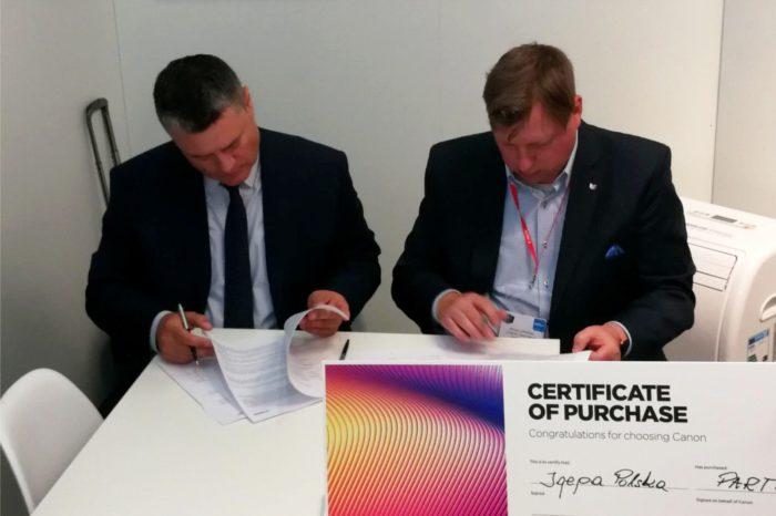 Canon podpisał umowę partnerską z nowym dystrybutorem – Igepa Polska – w zakresie urządzeń Océ Colorado 1640 z technologią UVgel.