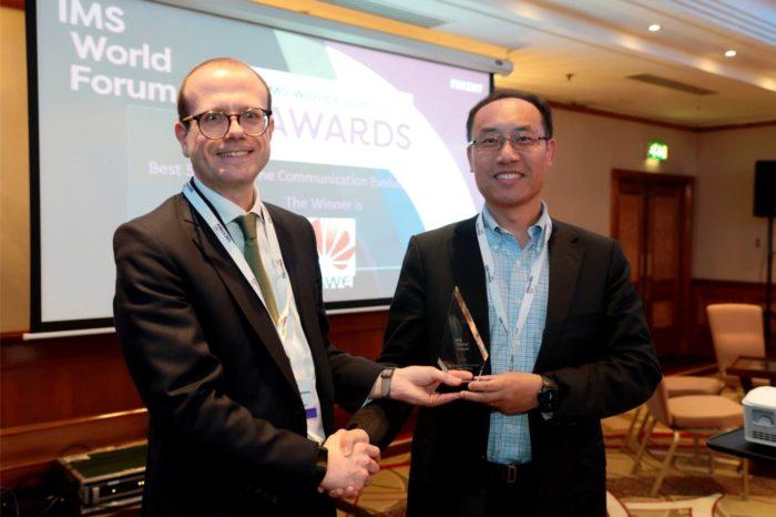 Huawei zdobywa dwie nagrody na IMS World Forum – za najlepsze rozwiązania IMS oraz najlepszą strategię rozwoju komunikacji 5G w czasie rzeczywistym.