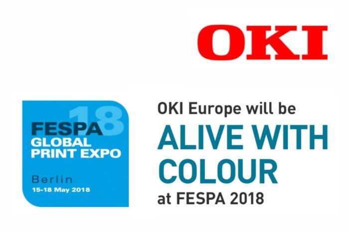 """OKI Europe na targach FESPA 2018 pokaże wyjątkowe możliwości specjalistycznego, kolorowego druku ,,Print for Profit"""" jako Złoty Sponsor FESPA 2018."""