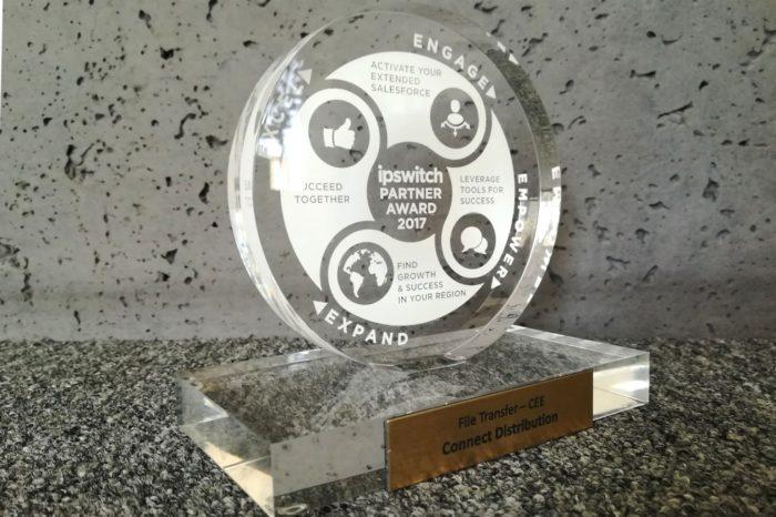 Connect Distribution uhonorowany nagrodą od Ipswitch za najlepsze wyniki finansowe w 2017 roku w regionie Central & Eastern Europe.