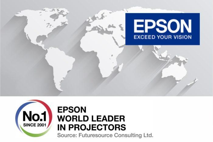 EPSON po trzech latach wzrostu sprzedaży, wyprzedził konkurencję i został liderem na rynku projektorów do profesjonalnych zastosowań.
