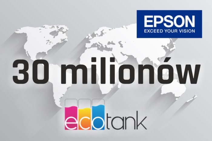 EPSON ogłosił że na całym świecie sprzedano już ponad 30 mln urządzeń atramentowych z serii Epson EcoTank ITS