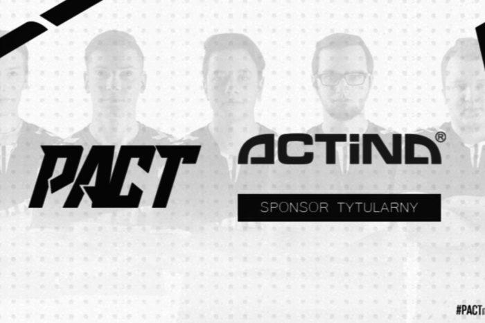 ACTION S.A. - właściciel marki komputerów i serwerów ACTINA podpisał umowę sponsorką z drużyną PACT - polską profesjonalną organizacją esportową.