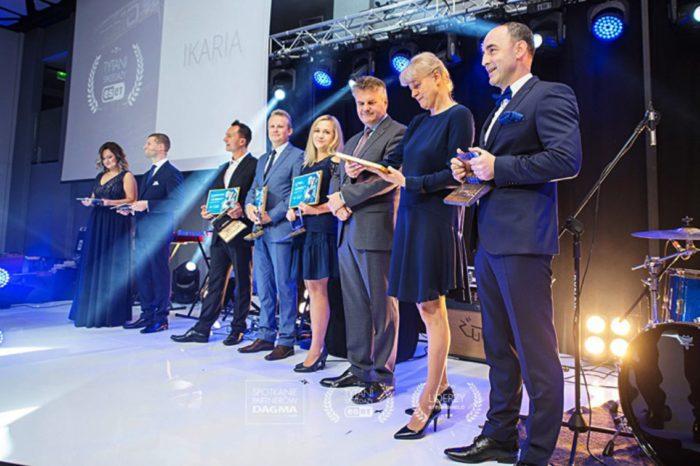 """ACTION S.A. podczas spotkania partnerów firmy DAGMA nagrodzony tytułem """"Tytan Sprzedaży ESET 2018"""" dla najlepszych Partnerów handlowych ESET w Polsce."""