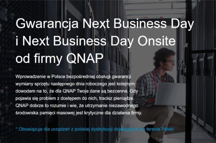 QNAP – renomowany dostawca wielofunkcyjnych serwerów NAS dla biznesu – zdecydował się na uruchomienie gwarancji Next Business Day oraz Next Business Day Onsite.