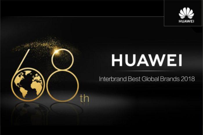 Huawei zajmuje 68 miejsce w rankingu Interbrand Best Global Brands 2018, opracowanego przez wiodącą firmę konsultingową Interbrand.