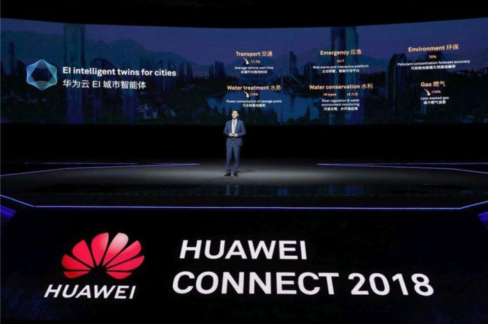 """HUAWEI CONNECT SHANGHAI 2018 """"Activate Intelligence"""" – Huawei Cloud zaprezentował rozwiązanie Huawei Cloud EI Intelligent Twins – inteligentne cyfrowe bliźniaki dla miast."""