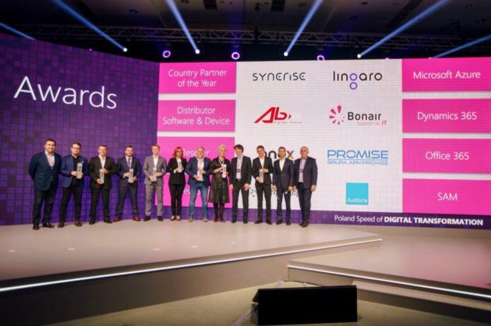 "AB S.A. nagrodzony przez Microsoft podczas tegorocznej konferencji Microsoft Partner Strategy Conference 2018, w kategorii ""Dystrybutor: Software and Device Sales"""