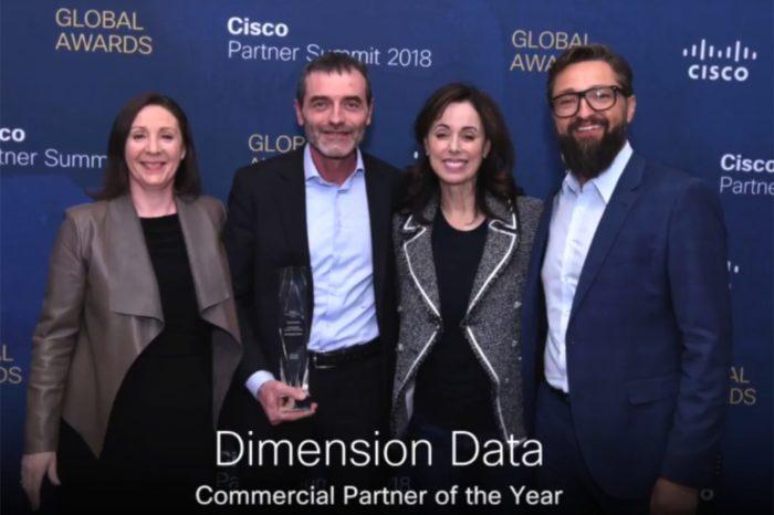 Dimension Data została uhonorowana przez Cisco, aż trzema nagrodami podczas globalnej konferencji Cisco Partner Summit Global 2018.