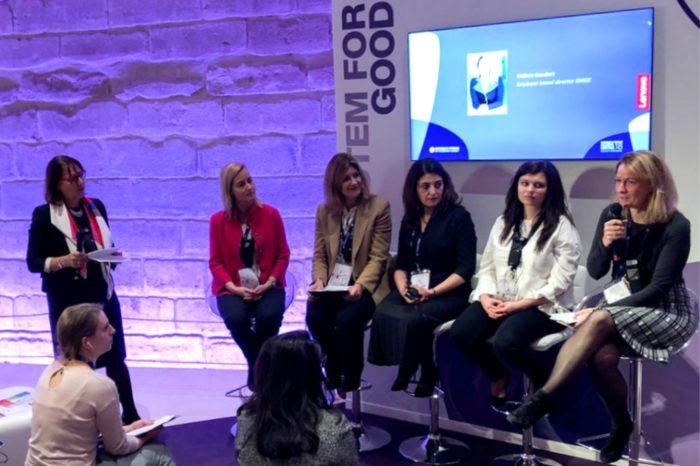Lenovo podczas Women's Forum for the Economy and Society w Paryżu przedstawia wyniki badań raporcie na temat różnorodności i włączania różnych grup społecznych.