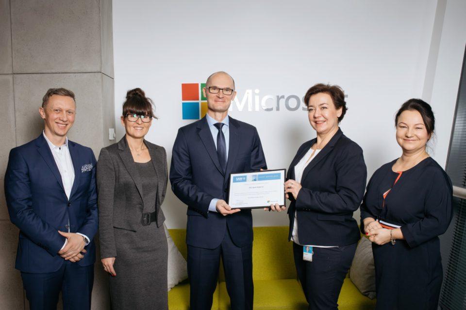 PKO Bank Polski kontynuuje współpracę z Microsoft w zakresie zarządzania oprogramowaniem - kolejny certyfikat Microsoft Software Asset Management (SAM).