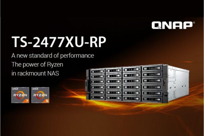 QNAP uzupełnia swoją linię NAS-ów rack TS-x77XU – prezentując model TS-2477XU-RP wyposażony w PCIe oraz obsługę iSER