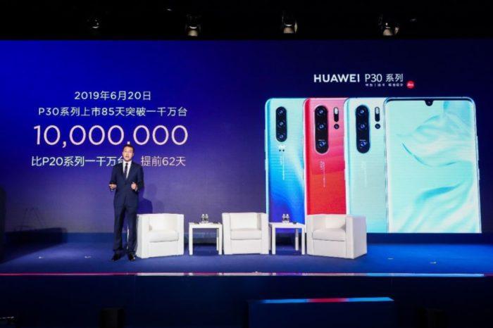 Huawei podczas MWC Shanghai Global Device Summit 2019, poinformował o sprzedaży ponad 10 milionów szt. smartfonów z serii P30 w ciągu zaledwie 85 dni!