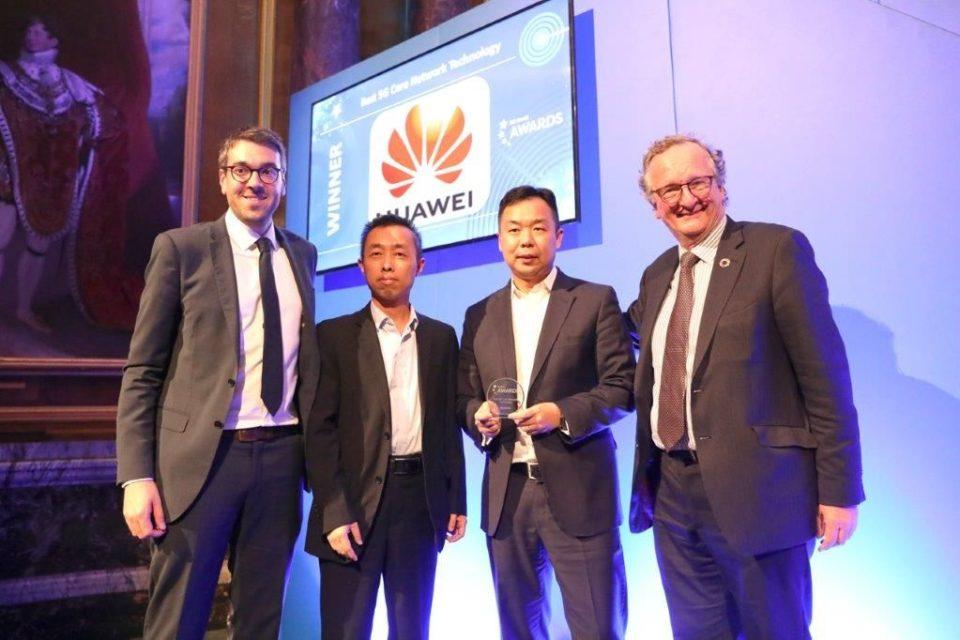 """Huawei nagrodzony niezwykle prestiżową nagrodą branżową """"Best 5G Core Network Technology"""", podczas jednej z najważniejszych globalnych konferencji 5G World Summit 2019 w Londynie."""