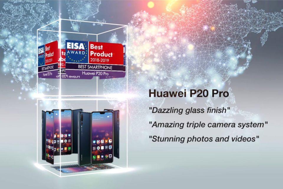 """Huawei drugi rok z rzędu producentem """"Najlepszego smartfona"""" według Europejskie Stowarzyszenie Obrazu i Dźwięku (EISA)."""