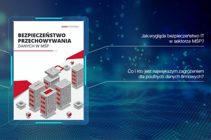 """Jak małe i średnie firmy przechowują dane? Opublikowano wyniki z raportu """"Bezpieczeństwo przechowywania danych w MŚP"""" przygotowanego na zlecenie One System."""