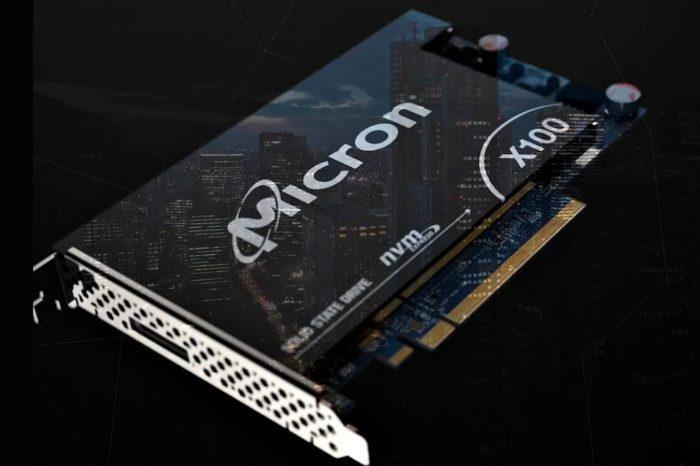 """Micron wreszcie wprowadza swoje rozwiązanie 3D XPoint SSD. Nośnik X100 określony jako """"Najszybszy na świecie"""" z 2,5 milionami IOPS i 9 GB/s."""