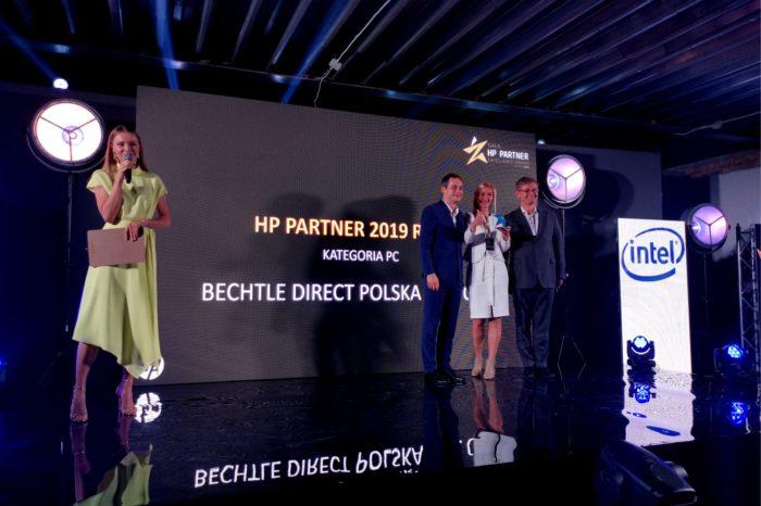 BECHTLE DIRECT POLSKA Sp. z o.o. partnerem roku 2019 firmy HP Inc Polska w kategorii PC.