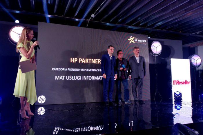 MAT Usługi Informatyczne uhonorowane tytułem Pioniera Implementacji Nowych Technologii, przez HP Inc Polska.