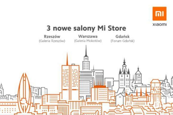 Xiaomi poszerza sieć sprzedaży o kolejne Mi Stores -Nowe salony powstaną w w Gdańsku, Rzeszowie i Warszawie.