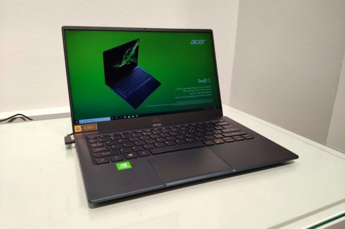 Do sprzedaży w Polsce trafiły laptopy Acer Swift 5 i Swift 3. Niebieski Swift 5 to jeden z najładniejszych ultrabooków na rynku.