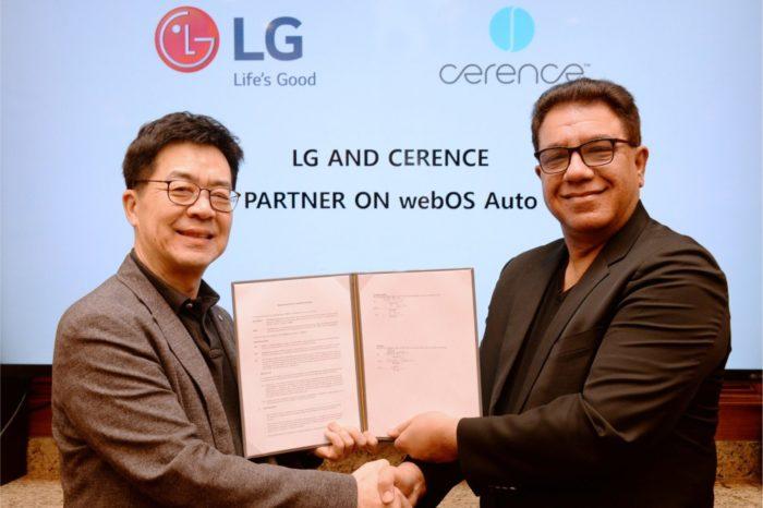 LG Electronics oraz firma Cerence wydzielona niedawno z Nuance Communications, wspólnie rozwijają platformę do samochodów przyszłości opartą na sztucznej inteligencji