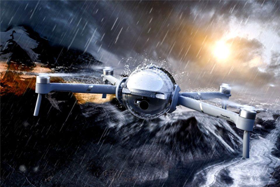 PowerVision wprowadza PowerEgg X, wodoodpornego drona 3 w 1 (urządzenie łączące drona, ręczną kamerę z gimbalem oraz inteligentną kamerę stacjonarną).