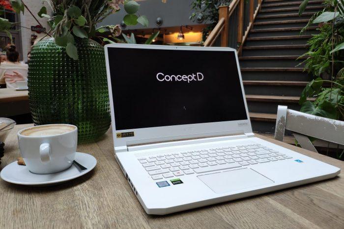 RECENZJA: Acer ConceptD 7 Pro - mobilna stacja robocza w nietuzinkowym stylu. Co potrafi kombinacja procesora Intel Core i7-9750H i karty graficznej Nvidia Quadro RTX 5000?