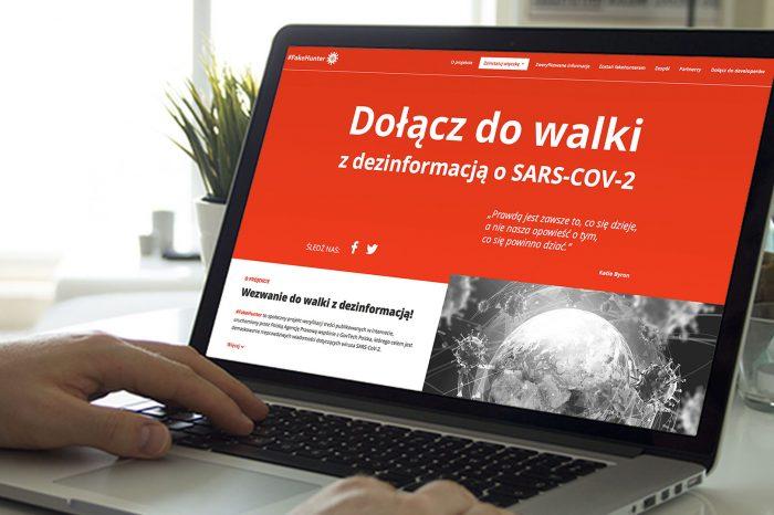 """Startuje #FakeHunter – system do walki z """"infodemią"""", a więc zalewem nieprawdziwych informacji na temat koronawirusa. Program jest efektem współpracy PAP i GovTech Polska."""